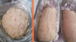 Тесто в форме для выпекания ставим в разогретую духовку.