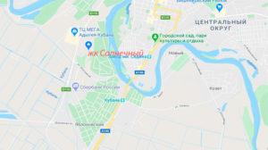 Карта Тахтамукайского района Адыгеи