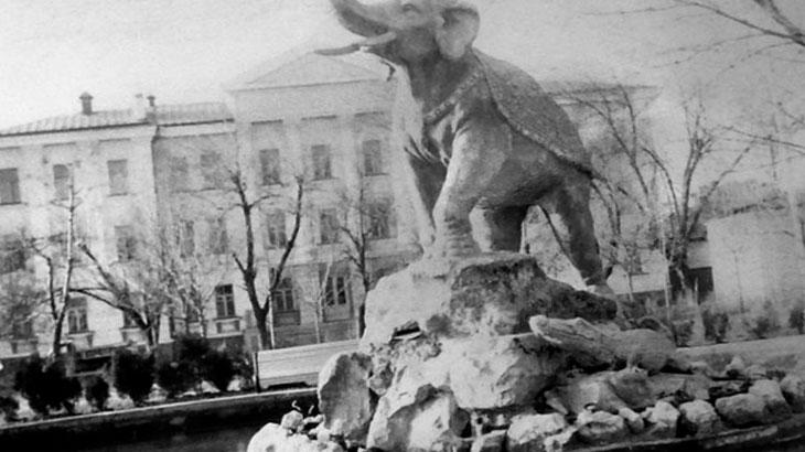 Старый Сквер со слоном в Краснодаре