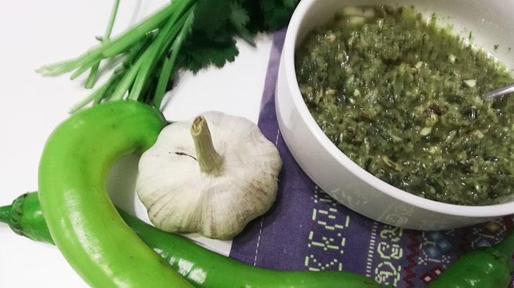 Зеленая острая аджика, как приготовить